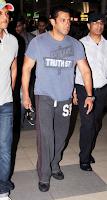 Salman Khan Spotted at Mumbai Airport returning from Hyderabad