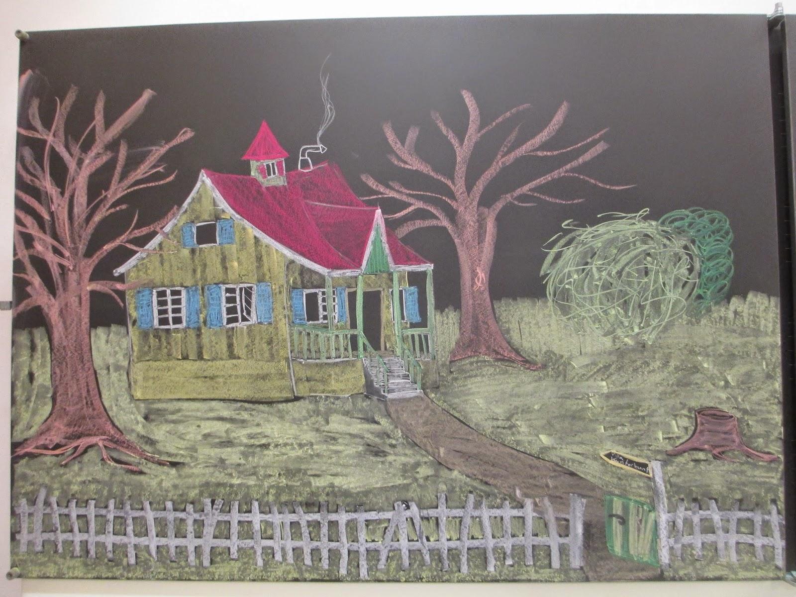 Villa Kunterbunt Zeichnung gezeichnet