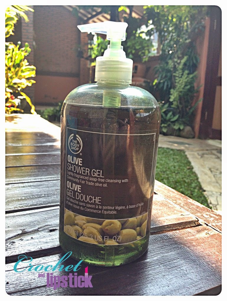 Crochet and Lipstick: Review: The Body Shop Olive Shower Gel