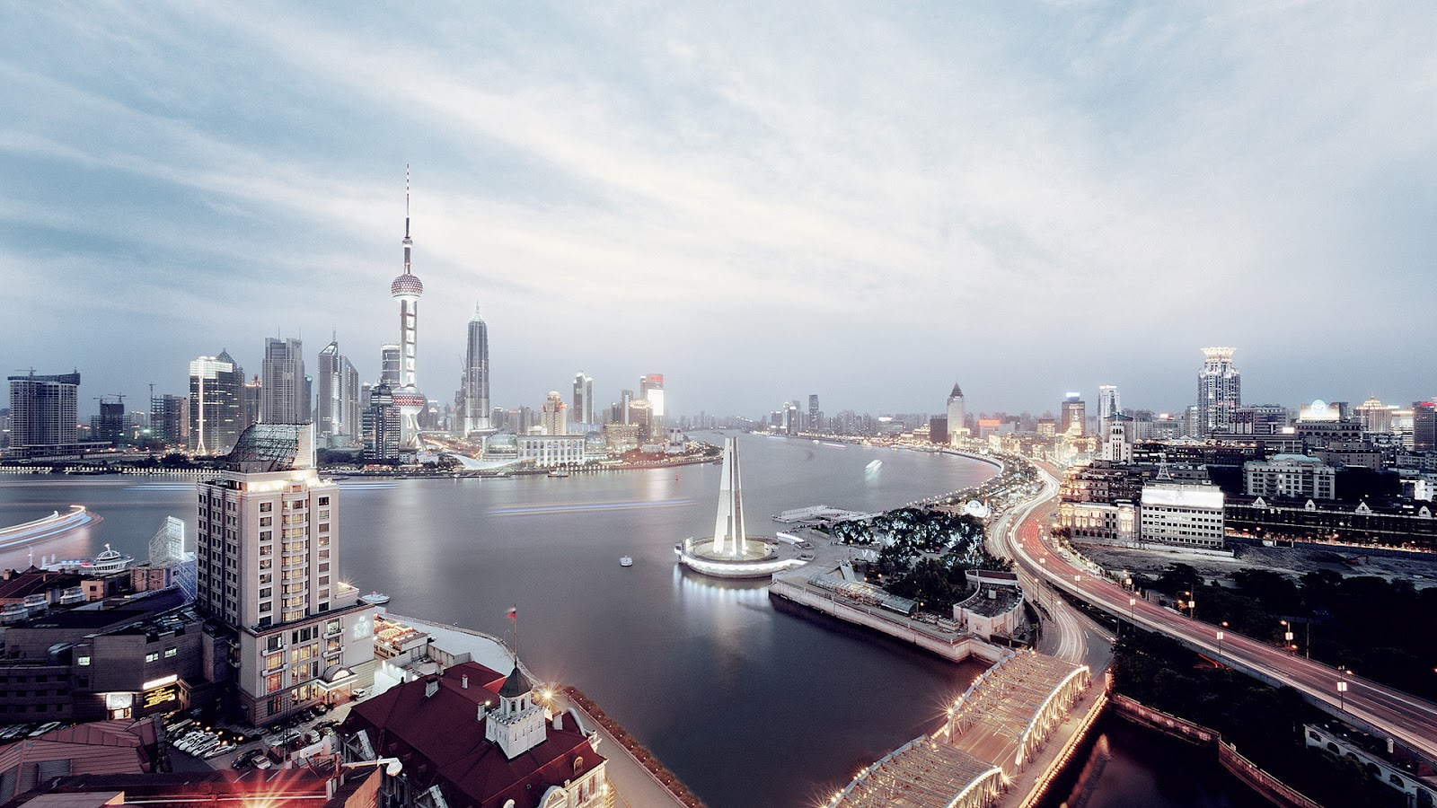 Shanghai china paisajes de ciudades