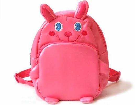 Mochila para bebê coelho rosa
