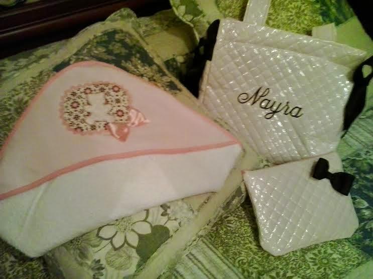 conjunto de toalla, bolsa para el carrito y neceser multiusos