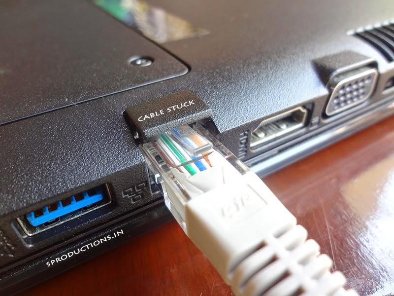 lan cable stuck laptop
