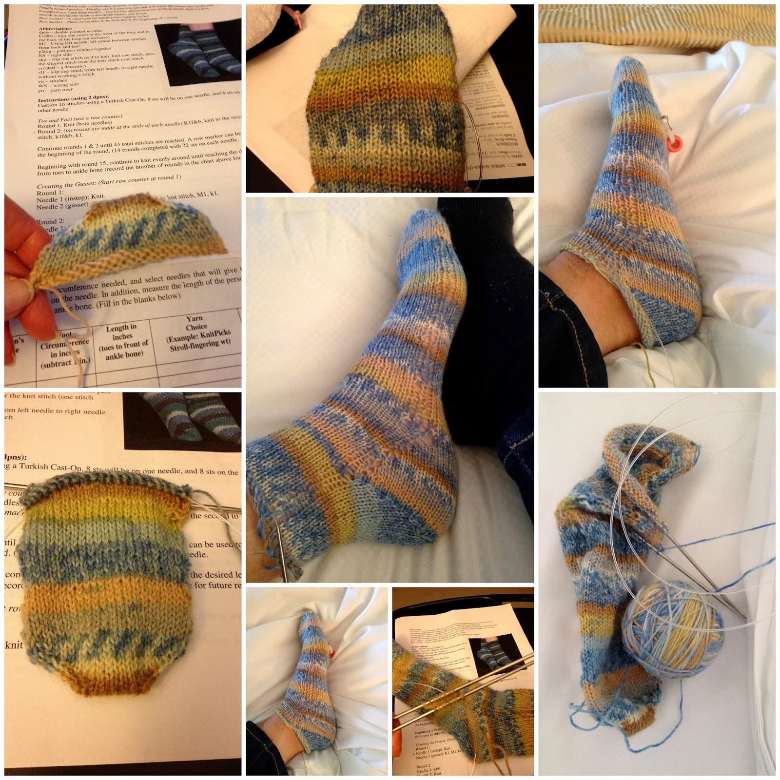 Вязание как закруглять носок
