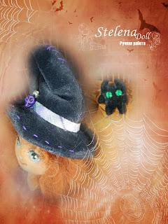 авторская текстильная кукла хеллоуин