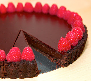 Double-Chocolate-Raspberry-Tart-Recipe
