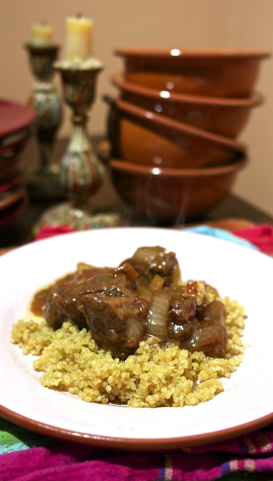 slow cooker beef & dried apricot tagine: simplelivingeating.com