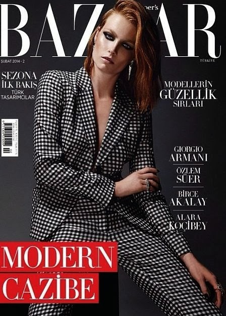 Ilona Swagemakers Photos from Harper's Bazaar Turkey Magazine Cover February 2014 HQ Scans