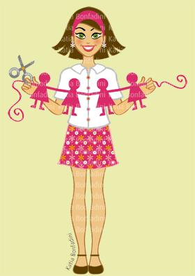 Ilustração para acervo pessoal/banco de desenhos (Scrapgirl)