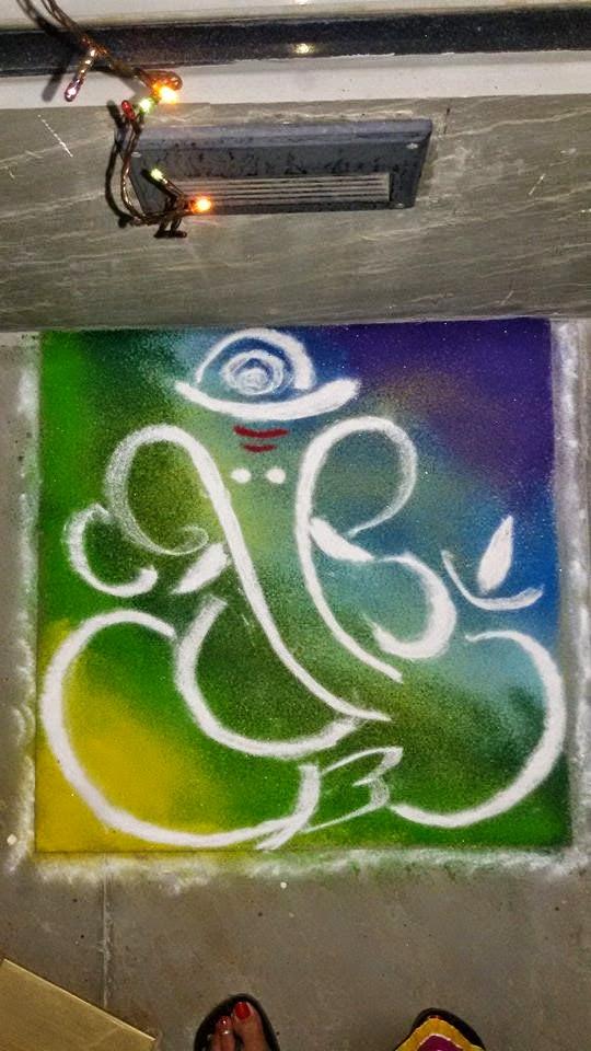 Ganesha Rangoli 26