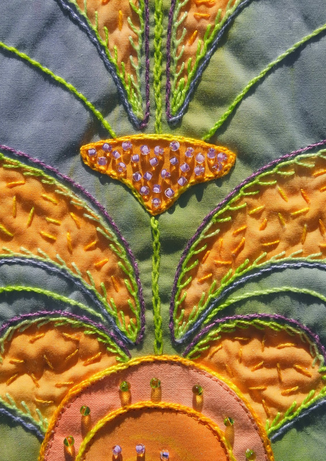 """Sherrie loves color!: """"Yoga mat quilt"""" and sun!"""