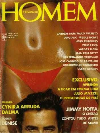 Confira as fotos de Cynira Arruda, capa da revista Homem de junho de 1976!