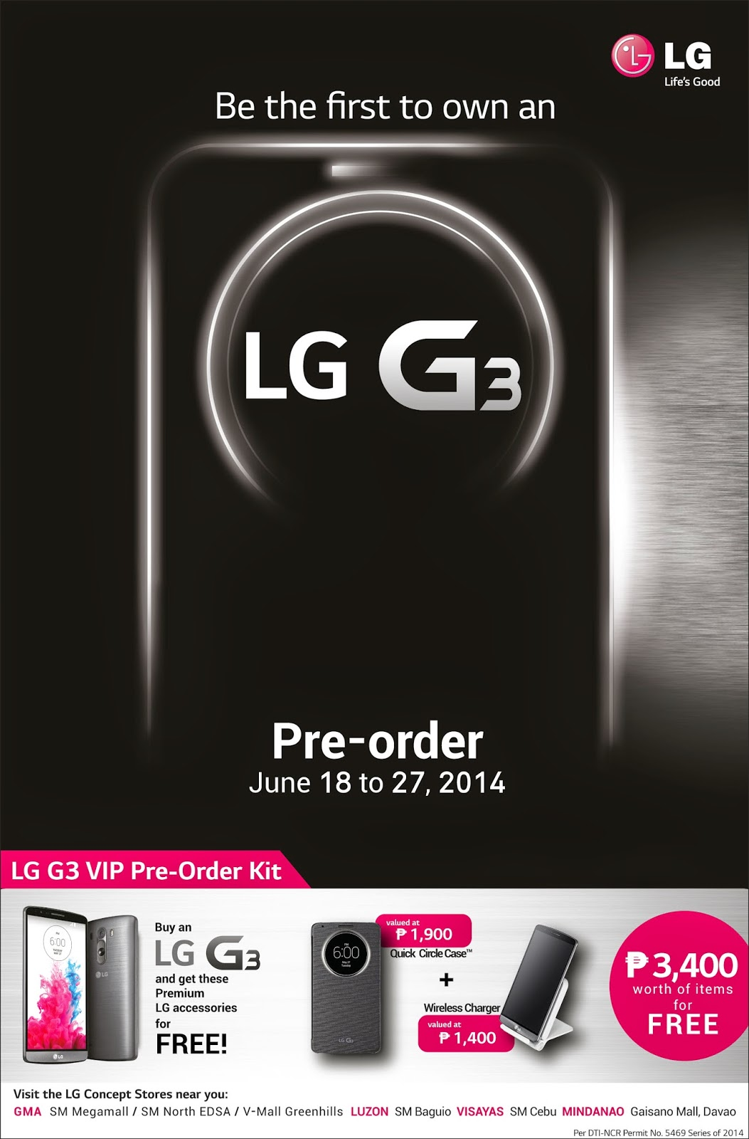 LG G3 Pre-Order Philippines Free Premium Accessories