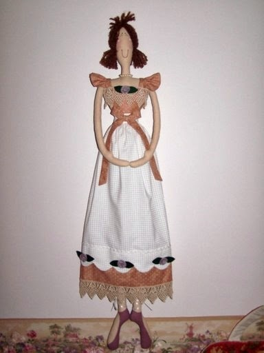 Moldes para boneca magrinha de pano