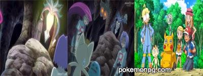 Pokemon XY - Capitulo 19 - ¡La conspiración de Madame X! ¡¡El terrorífico Malamar!!