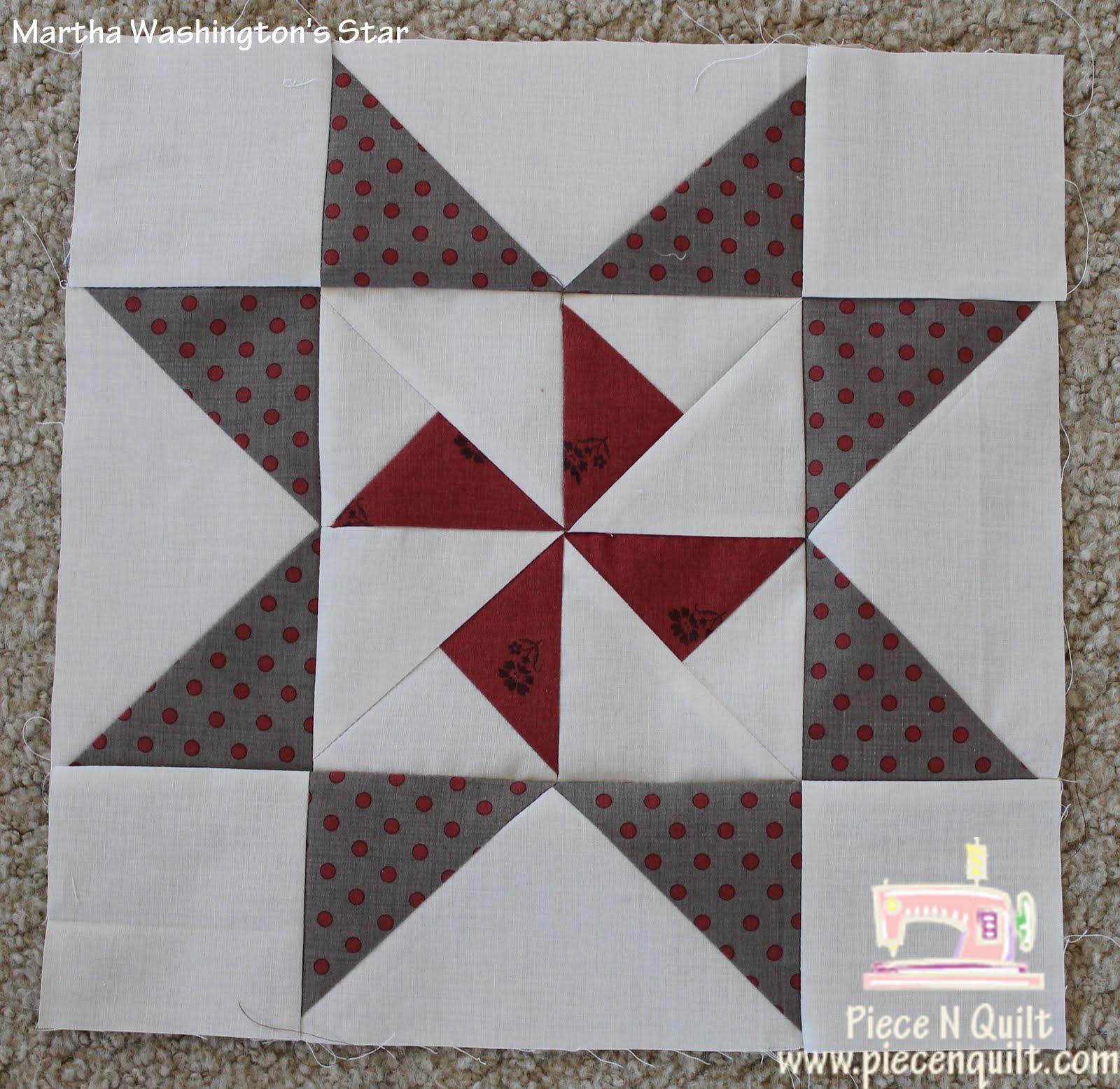 Piece N Quilt Star Quilt Martha Washington S Star