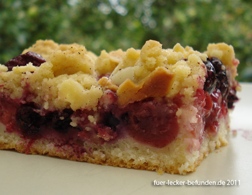 Fur Lecker Befunden Kirsch Streusel Kuchen