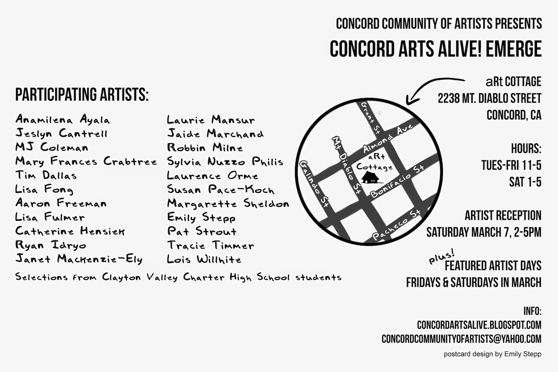 concord arts alive emerge artists