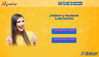 Facebook y Twitter Gratis Ilimitado con Telcel Promocion