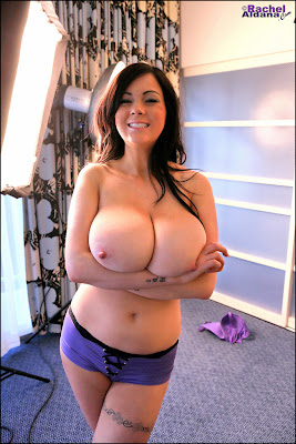 Candids of Huge Boobs Rachel Aldana in purple!