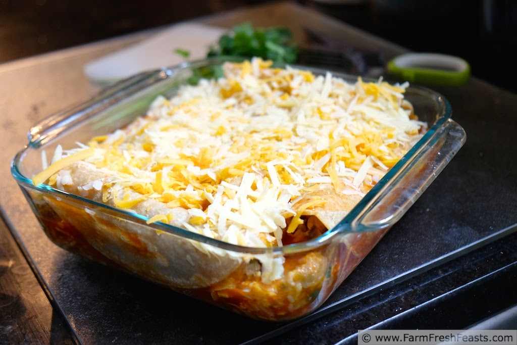 Easy Cheesy Vegetable Rice Enchiladas | Farm Fresh Feasts