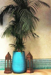 Kasbah of Marrakech, treasure, turquoise pot, tiles