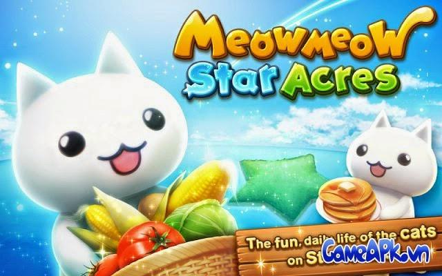 Meow Meow Star Acres v1.1.5 hack full vàng & đá quý cho Android