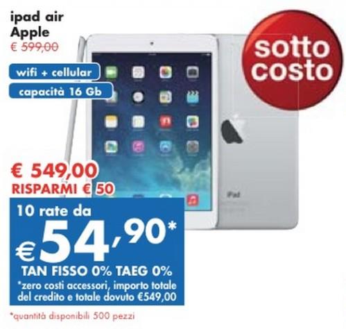 Panorama sconta l'iPad Air e ve lo finanzia a tasso zero con una promozione fino a marzo 2014