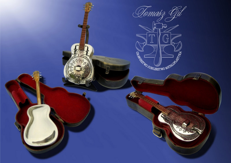 Miniatura gitary dla Marka Knopflera - Tomasz Gil.