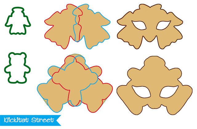 cutting mask cookies with symmetrical cookie cutter shapes