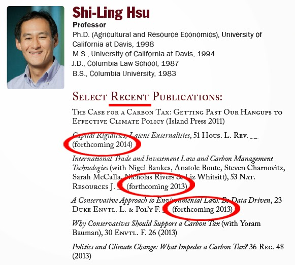 Florida State College of Law - Shi-Ling Hsu - Select Recent Publications