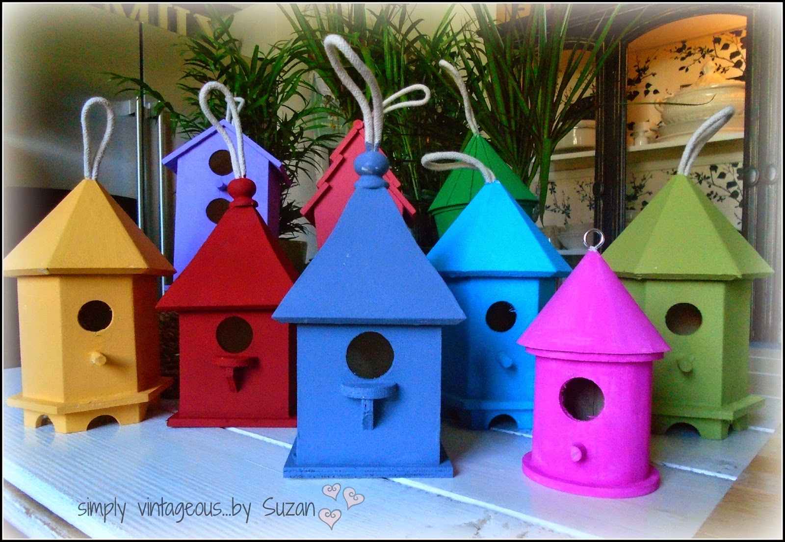 Painted Bird Houses