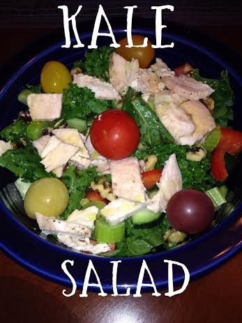 clean eating, kale salad