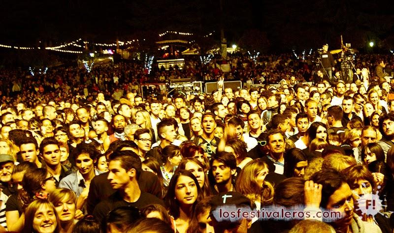 Público en el concierto de Indochine. Festival Les Déferlantes d'Argeles sur mer