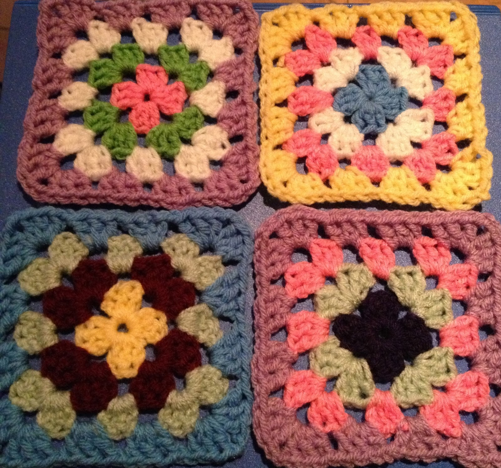 Free Crochet Granny Square Patterns For Beginners : Free Crochet Connection: Basic Granny Square Pattern (for ...