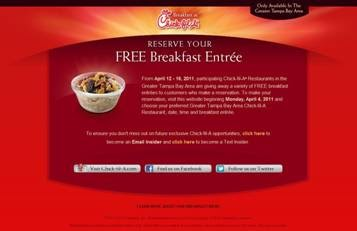 Area restaurants offer free breakfast entrees April 12 – 16