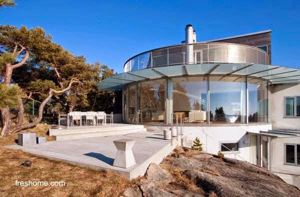 Residencia de estilo Contemporáneo en Suecia vista exterior