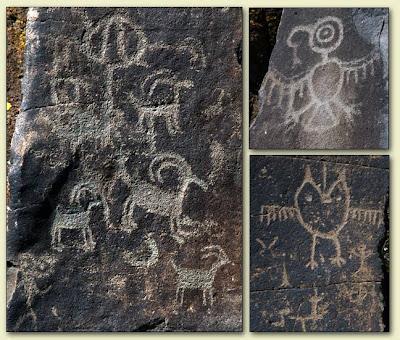Columbia River petroglyphs.