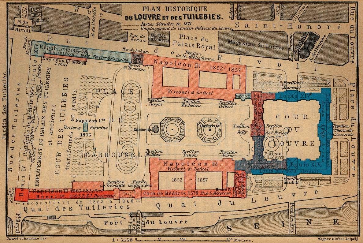 Nuits blanches saint petersbourg louvre 0 - Plan detaille du jardin des tuileries ...