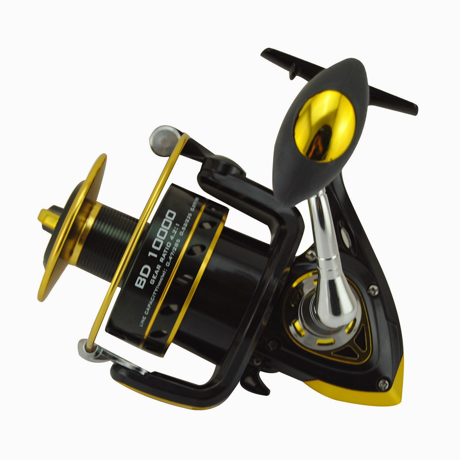 BD 10000 Heavy Duty Reel Spool10+1BB Freshwater/Saltwater Spinning Fishing Reel