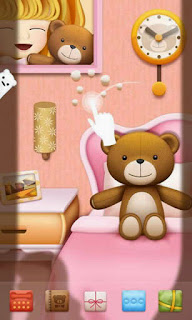 Screenshots of the Teddy GO Launcher Super for Android mobile, tablet, and Smartphone.