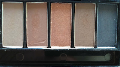 L'oreal La Palette Nude Beige, 5 shadows on the right