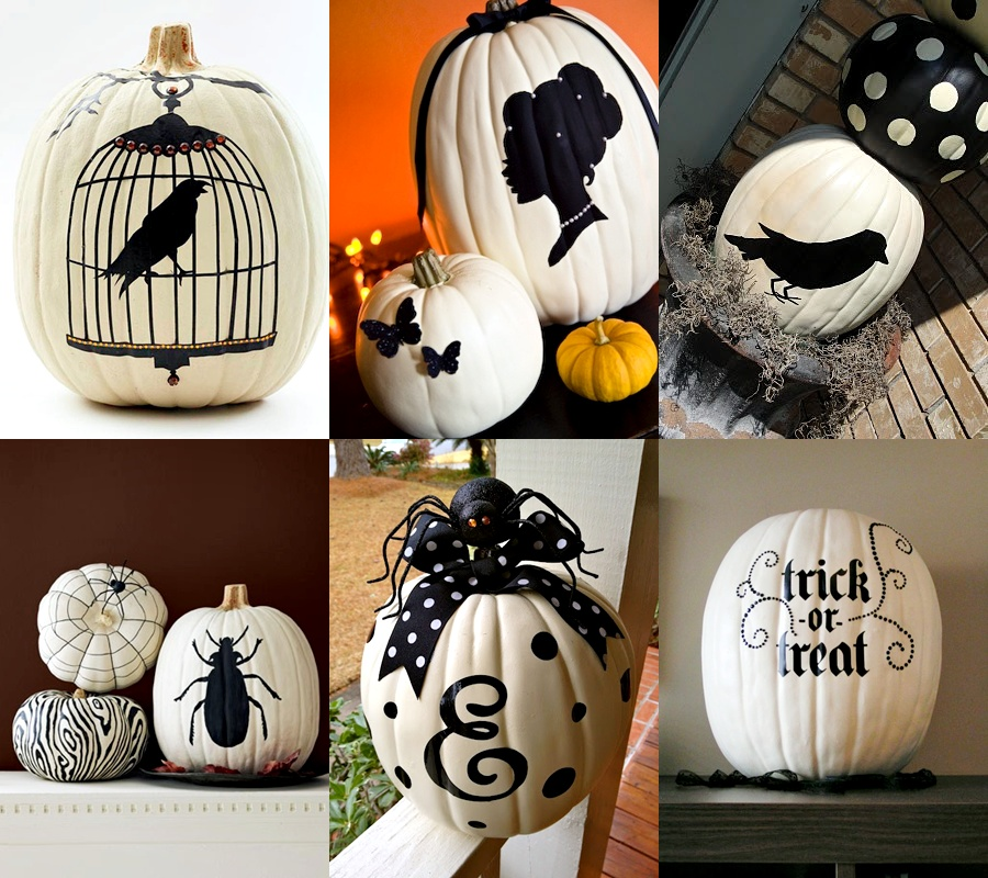 Pop culture and fashion magic halloween pumpkins carving White pumpkin carving ideas