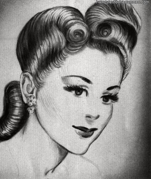 classic looking victory roll hairstyle
