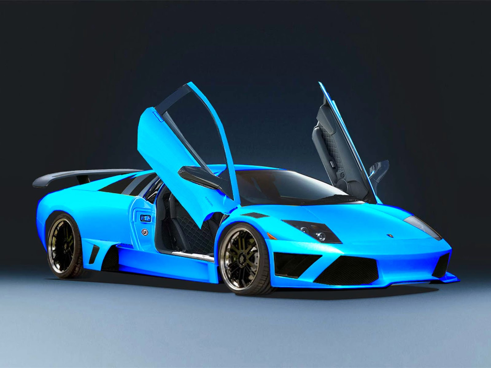 Lamborghini Egoista Blue - wallpaper.