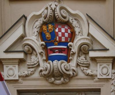 Grb na zgradi Sabora