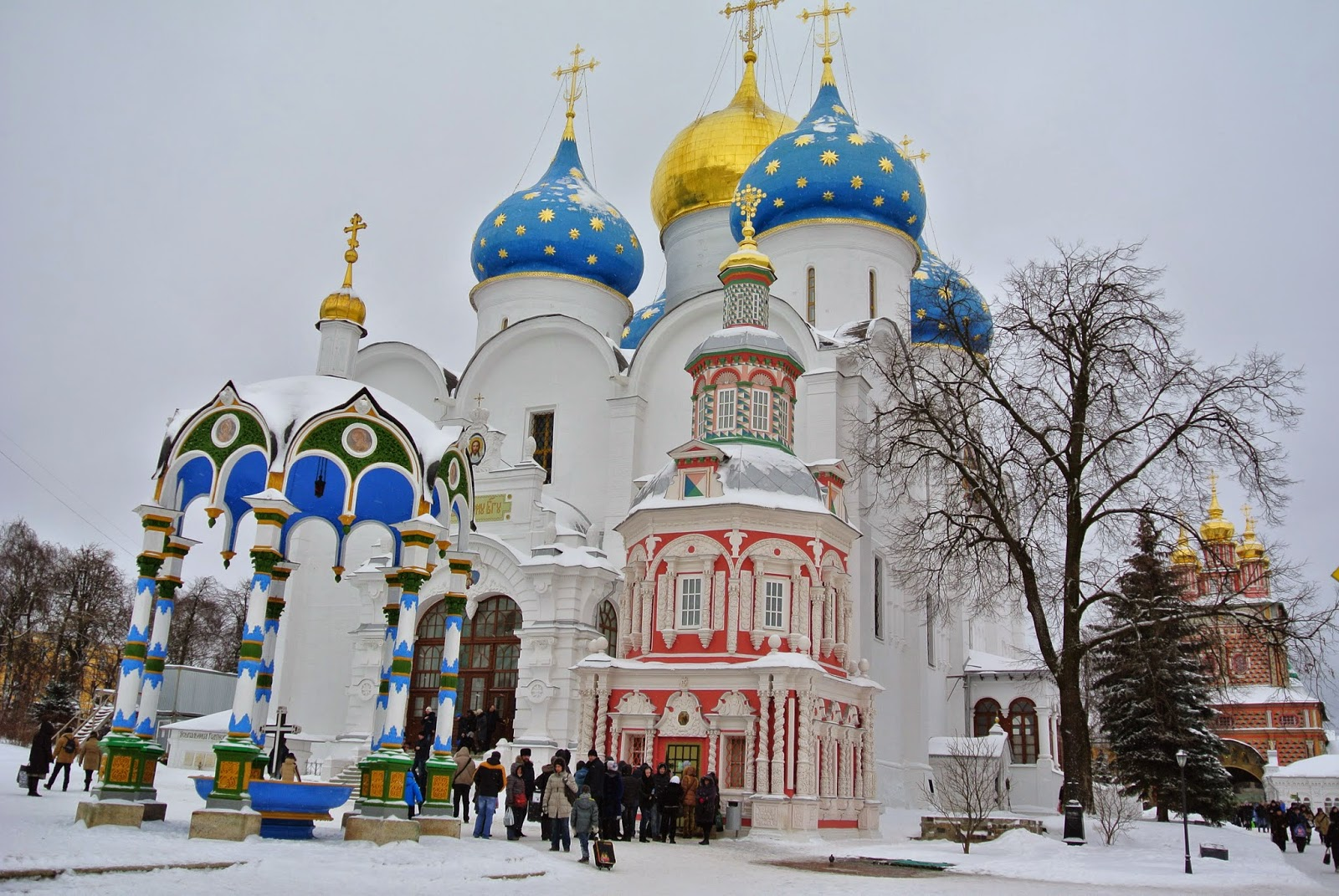 Cathedral domes at Sergiev Posad, Russia