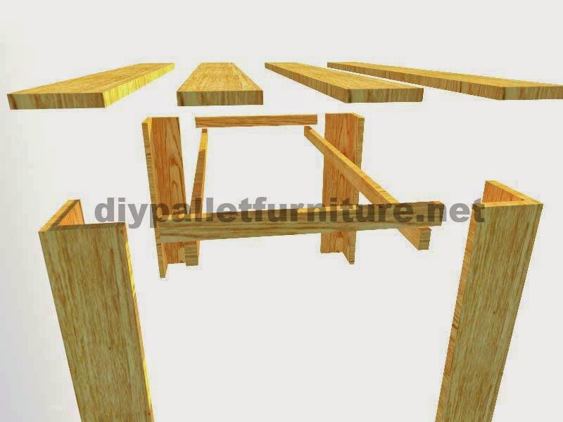Planos para hacer una mesa con tablas for Muebles con palets planos