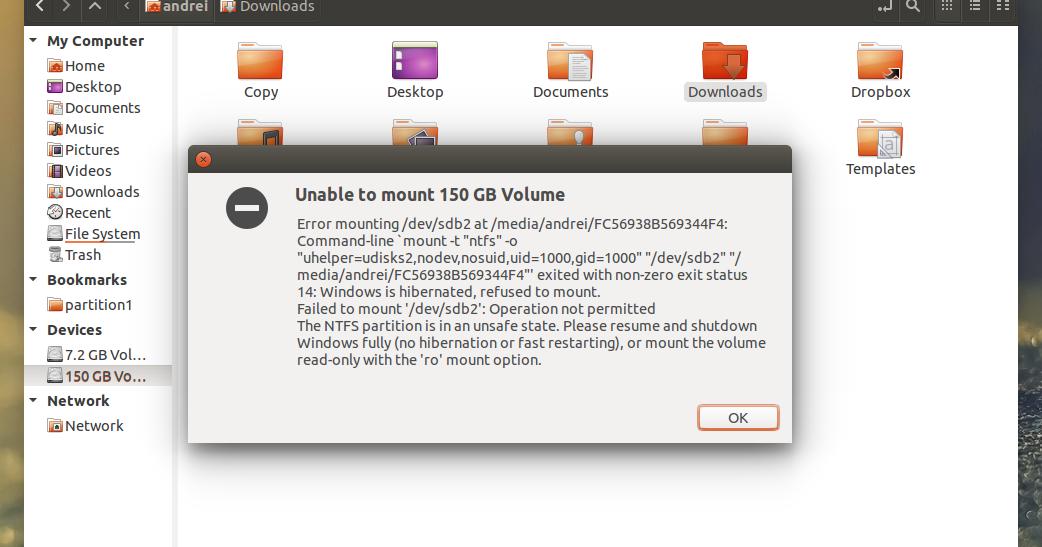 NTFS partition hibernated  cannot mount   Linux Mint Forums