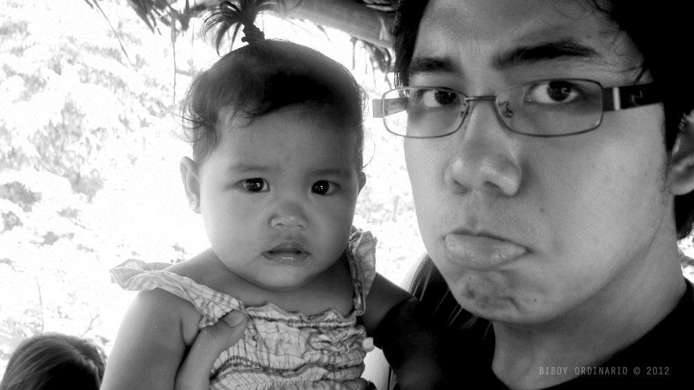 Awkward baby face
